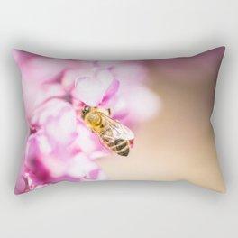 Bee at Work Close Up Rectangular Pillow