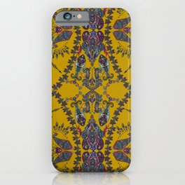 Gold Gipsy Paisley iPhone Case