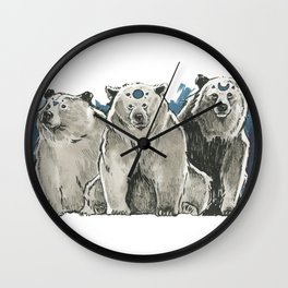 The Bear Clan Wall Clock