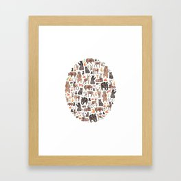 Woodland or Forest Animals! Framed Art Print