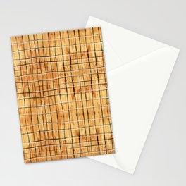Palest Orange Plaid Stationery Cards