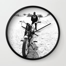 The Motorcycle Racing Team Wall Clock