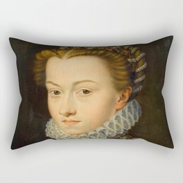 "François Clouet ""Elisabeth of Austria"" Rectangular Pillow"