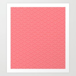 Japanese pattern coral Art Print