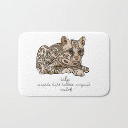 ISTP MBTI Spirit Animal: Ocelot Personality Bath Mat