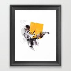 pulp fiction samuel lee jackson Framed Art Print