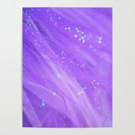 Pantone Purple, Wanderlust, Purple, Aqua, Abstract Poster
