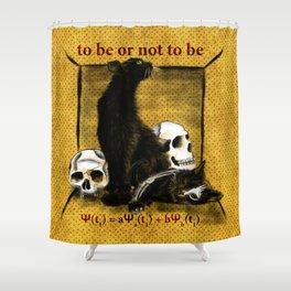 Schrödinger's Hamlet Shower Curtain
