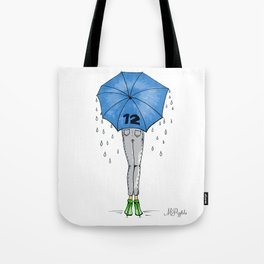 12th Man Umbrella // Fashion Print Tote Bag