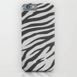 Soft Gray Wildlife Tiger Pattern iPhone Case