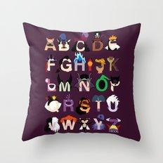 Evil-phabet Throw Pillow