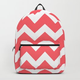 Coral Red Chevron Backpack