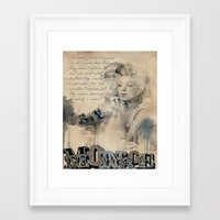persona Framed Art Prints featuring Persona by April Gann