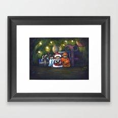 Merry Christmas World Framed Art Print