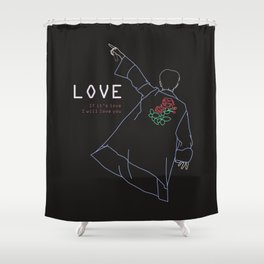 BTS RM LOVE LINE ART Shower Curtain