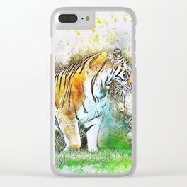 Tiger Cub Carrying Clear iPhone Case