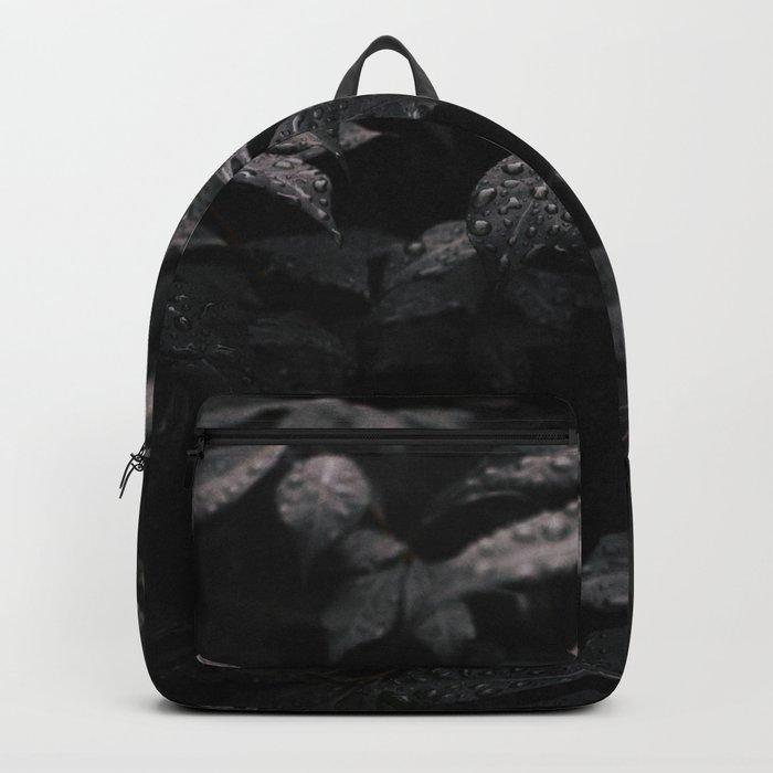 Black Leaf Backpack