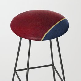Deep Blue, Red And Gold Abstract Painting Bar Stool