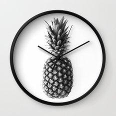 PINEAPPLE B&W Wall Clock