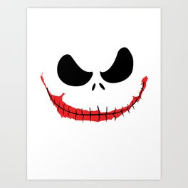 Joke Skellington Art Print