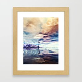 Winter am See Framed Art Print