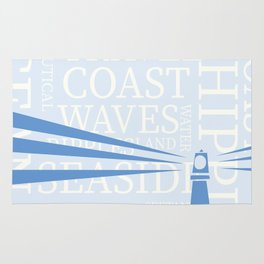 Nautical Lighthouse poster Rug