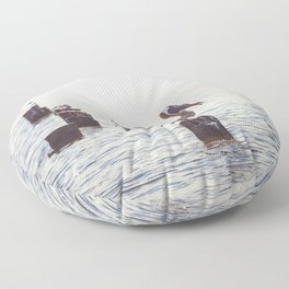Gulf Coast Peace Floor Pillow