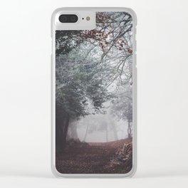 Dark fog forest Clear iPhone Case