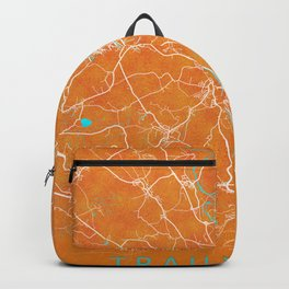 Traunstein, Germany, Gold, Blue, City, Map Backpack