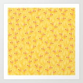 The Yellow Baby Chicks Club Art Print