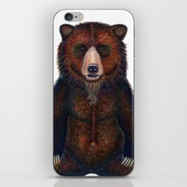 Blissed Out Bear iPhone Skin