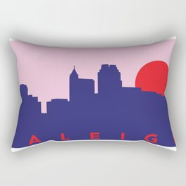 Raleigh Night Skyline Rectangular Pillow