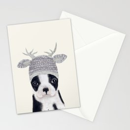 little boston ohh deer Stationery Cards
