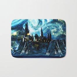 Starry Night Hogwarts Bath Mat