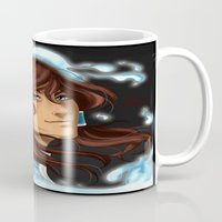korra Mugs featuring Korra by BubbleJuiceBox