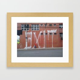 painting with fire extinguisher Framed Art Print