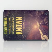 sagan iPad Cases featuring Space Exploration (Carl Sagan Quote) by taudalpoiart
