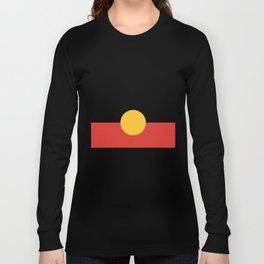 Australian Aboriginal Flag Long Sleeve T-shirt