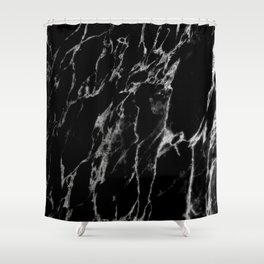 Black magic marble Shower Curtain