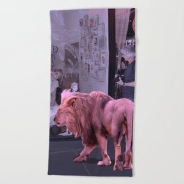 Searching the Beauty. African Invasion Beach Towel