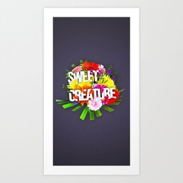 Sweet creature Art Print