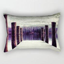Moody winter skies on the lake Rectangular Pillow