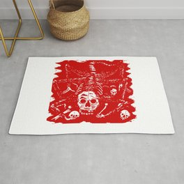 Creature With Skull Face Rug