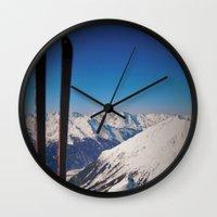 ski Wall Clocks featuring ski by ViiGlory