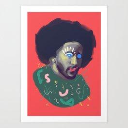 Brave Colin, POP art style, digitally painted portrait Art Print