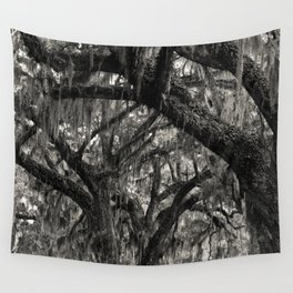 Live Oaks with Spanish Moss, Georgia Wall Tapestry
