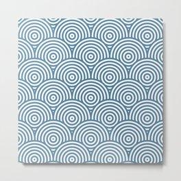 Scales - Blue & White #453 Metal Print