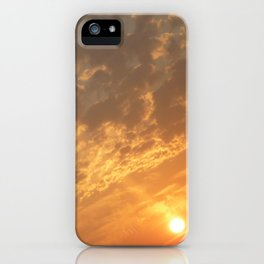 Sun in a corner iPhone Case