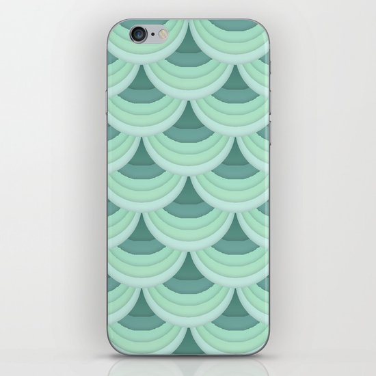 Ocean Fan Tail. iPhone & iPod Skin