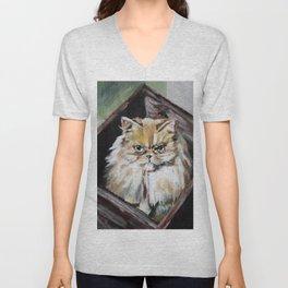 Here kitty kitty Unisex V-Neck